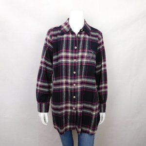 Soft Surroundings Plaid Button Up Shirt Large